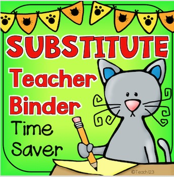 Sub Plans Teacher Binder K-1