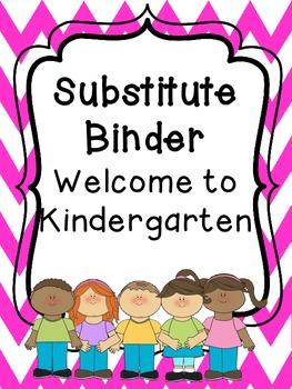 Substitute Teacher Binder Kinder