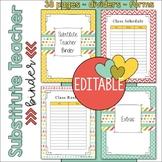 Substitute Teacher Binder / Notebook Resources