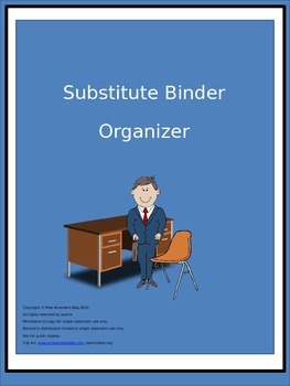 Substitute Teacher Binder Organizer