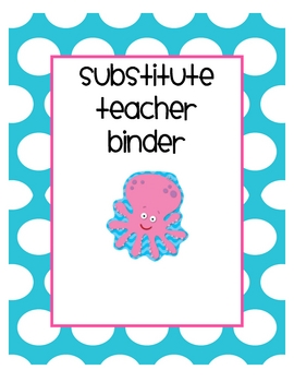 substitute teacher binder pack by erin from creating and teaching