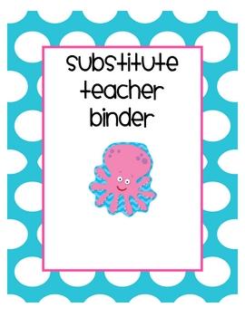 Substitute Teacher Binder Pack