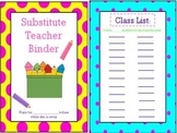 Substitute Teacher Binder (Polka Dot Themed)