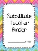 Substitute Teacher Binder Printable