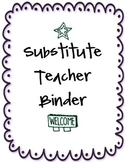 Substitute Teacher Binder - Purple / Ocean
