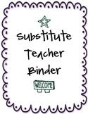 Substitute Teacher Binder - Purple / Ocean