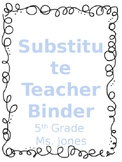Substitute Teacher Binder Resources