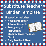 Substitute Teacher Binder Template