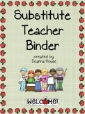 Substitute Teacher Binder with Apple Border