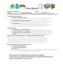 Substitute Teacher Class Report