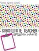 Substitute Teacher: Classroom Manual - EDITABLE!