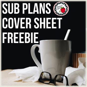 Sub Plans Cover Sheet
