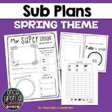 Sub Plans - Spring Theme