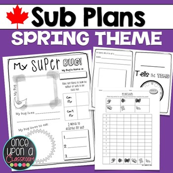 Sub Plans - Spring Theme - Canadian