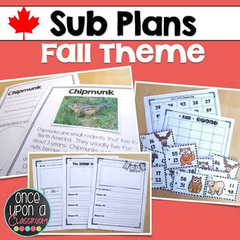 Sub Plans - Fall Theme - Canadian