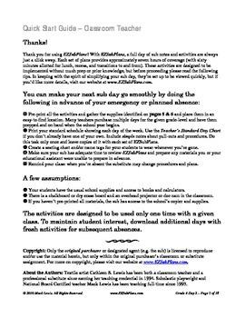 EZSubPlans: Emergency Absence Plans Grade 4 Day 2