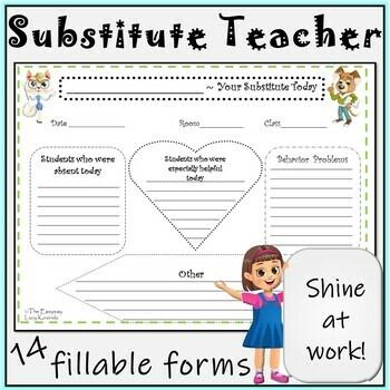 substitute teacher form