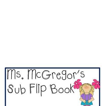 Substitute Teacher Flip Book
