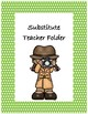 Substitute Teacher Folder Cover~ Green Polka Dot Detective