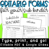 Editable Substitute Teacher Forms