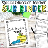 Substitute Teacher Binder for Special Education Teachers {Editable}