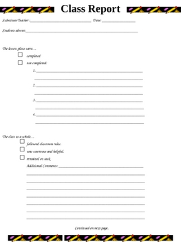 Substitute Teacher Form