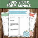 Substitute Teacher Form BUNDLE