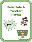 Substitute & Teacher Forms