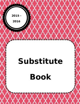 Substitute Teacher Guide for Seven Periods