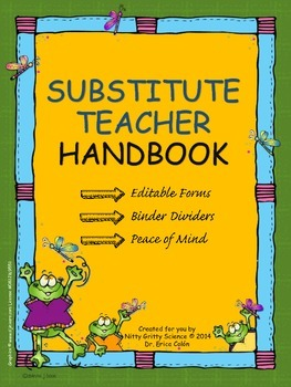 Substitute Teacher Handbook - EDITABLE Sub Plans