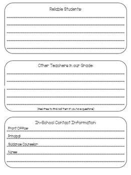 Substitute Teacher Information