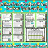 Substitute Teacher Instructions Packet