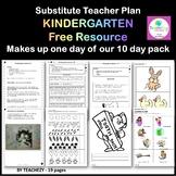 Substitute Teacher Kindergarten Day 1