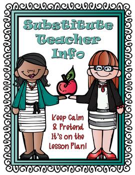 Substitute Teacher Lapbook