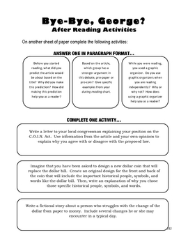 FREEBIE! Substitute Teacher Lesson Plan - Guided Reading - U.S. Currency