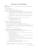 Substitute Teacher Lesson Plan - Middle School - Prime Numbers