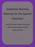 Substitute Teacher Materials for the Spanish Classroom