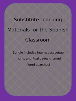 Substitute Teacher Materials for the Spanish Classroom