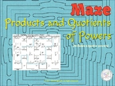 Product of Powers, Quotient of Powers Math Puzzle / Maze / Emergency Plan