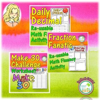 Substitute Teacher Math Resource Bundle for Middle School
