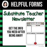 Substitute Teacher Newsletter