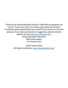 Substitute Teacher Note Freebie