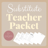 Substitute Teacher Packet: Forms and Templates for MS / HS