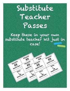 Substitute Teacher Passes