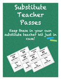 Substitute Teacher Passes