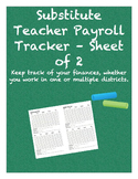 Substitute Teacher Payroll Tracker