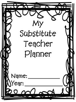 Substitute Teacher Planning Binder