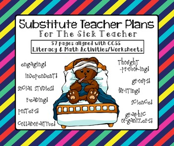 Substitute Teacher Plans For The Sick Teacher