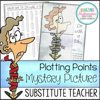 Substitute Teacher Plotting Points - Mystery Picture (Math