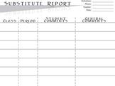 Substitute Teacher Report - Behavior and Progress